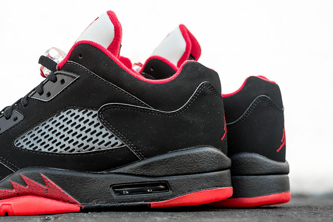Alternate Air Jordan 5 Low Black Red