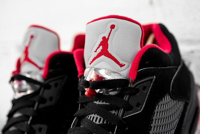 Alternate Air Jordan 5 Low Black Red