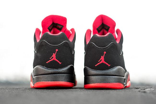 black red jordan 5