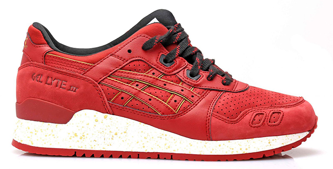 Asics Gel Lyte III Red Suede Leather