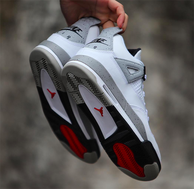 the latest ca317 1ef30 Air Jordan 4 Retro 89 Nike Air White Cement 2016 | SneakerFiles