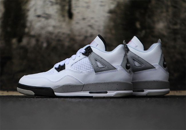 Kids Nike Air Jordan 4 White Cement GS