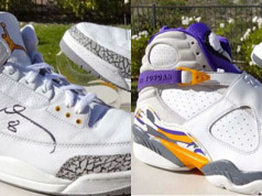 Kobe Air Jordan 3 8 PE Pack LA Lakers