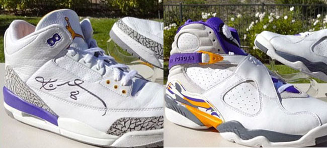 Kobe Air Jordan 3 8 PE Pack Lakers February 2016
