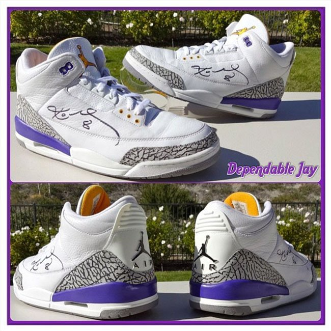 Kobe Air Jordan 3 Lakers PE