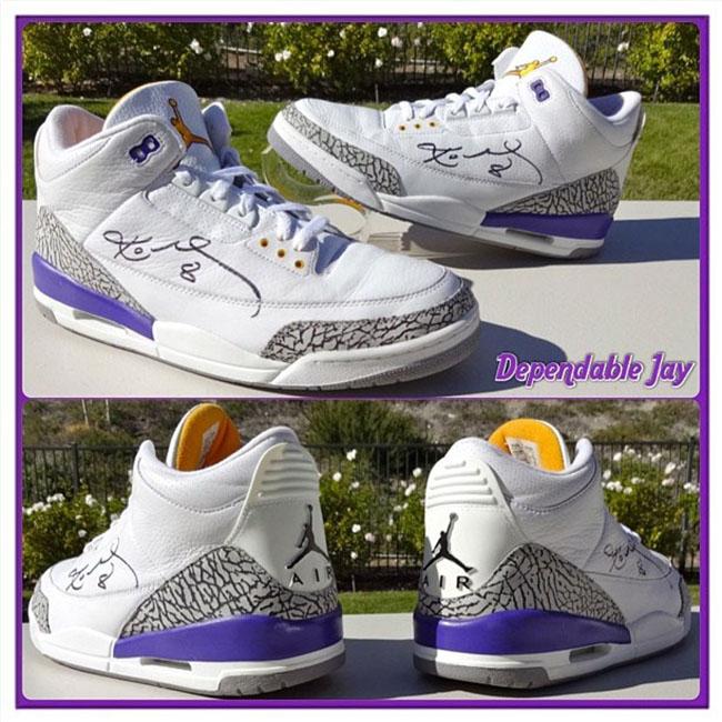 Kobe Air Jordan 3 Lakers PE