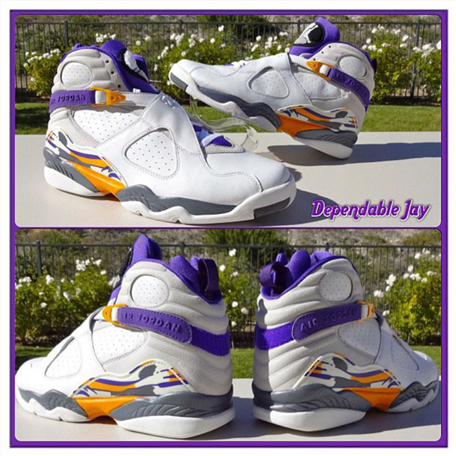 Kobe Air Jordan 8 Lakers PE