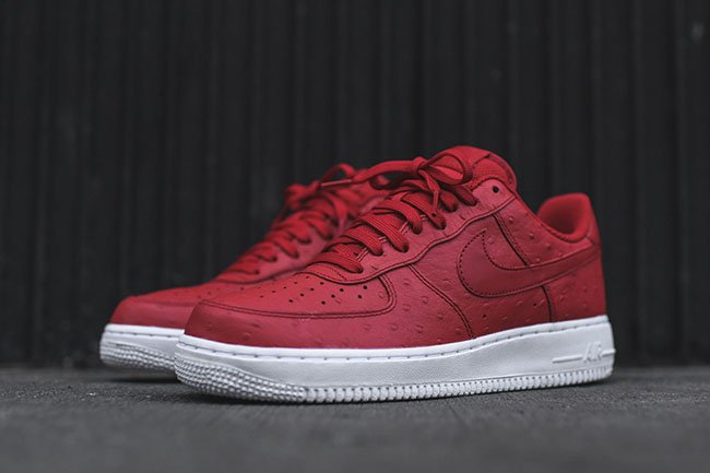 free shipping 19fd6 b6316 hot sale Nike Air Force 1 07 LV8 Red Ostrich