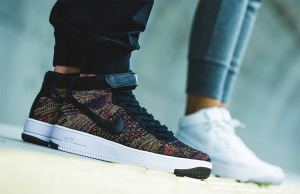 Nike Air Force 1 Flyknit Black Multicolor