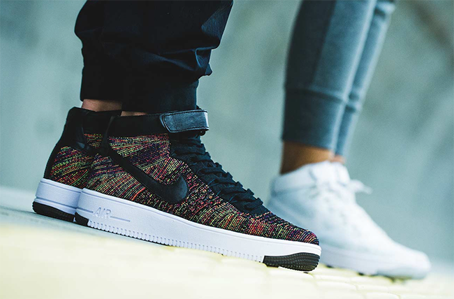 1ede825297b2 Nike Air Force 1 Flyknit Black Multicolor