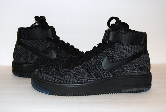 Detailed Look at the Nike Air Force 1 Flyknit 'Black'
