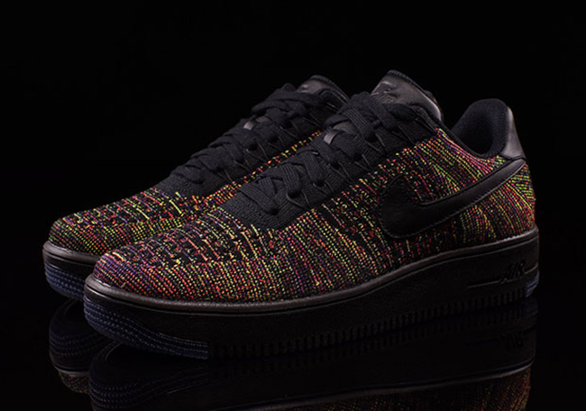 Nike Air Force 1 Low Flyknit Black Multicolor