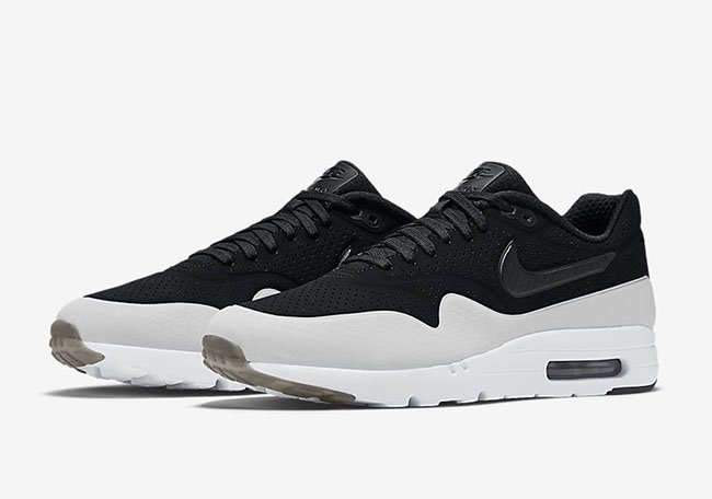pretty nice cc9aa 4b366 Nike Air Max 1 Ultra Moire Black White Smoke | SneakerFiles