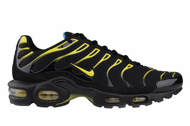 nike air max plus tuned 1 black yellow