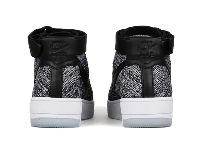 Nike Flyknit Air Force 1 Black White