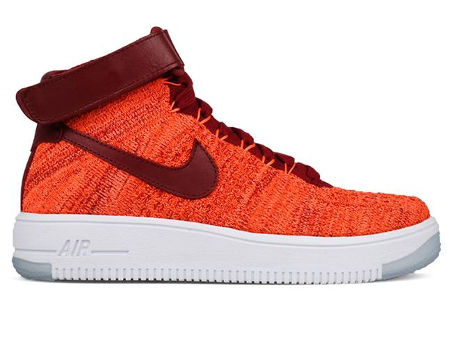 Nike Flyknit Air Force 1 Total Crimson Team Red