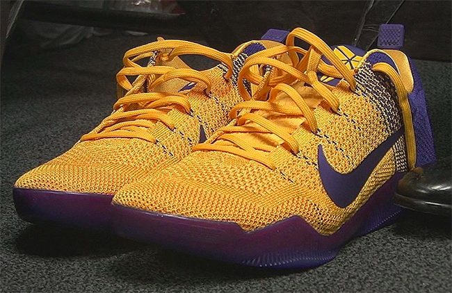 Nike Kobe 11 Lakers Yellow Purple