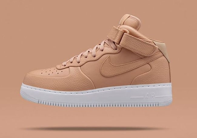 nikelab air force 1 mid tan vachetta air