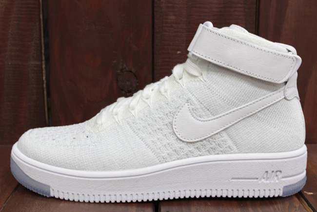 d25f27935ed Nike WMNS Flyknit Air Force 1 Ultra White durable modeling ...
