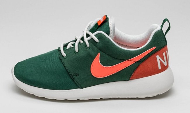 Nike WMNS Roshe One Gorge Green Bright Mango