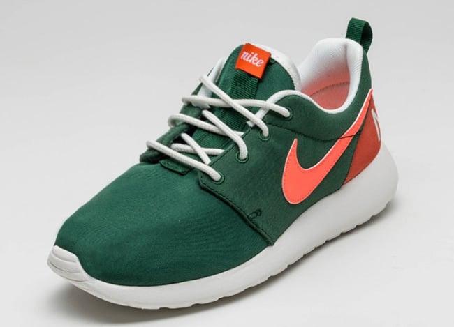 Nike WMNS Roshe One Gorge Green Bright Mango