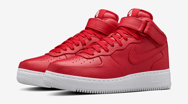 NikeLab Air Force 1 Mid Red