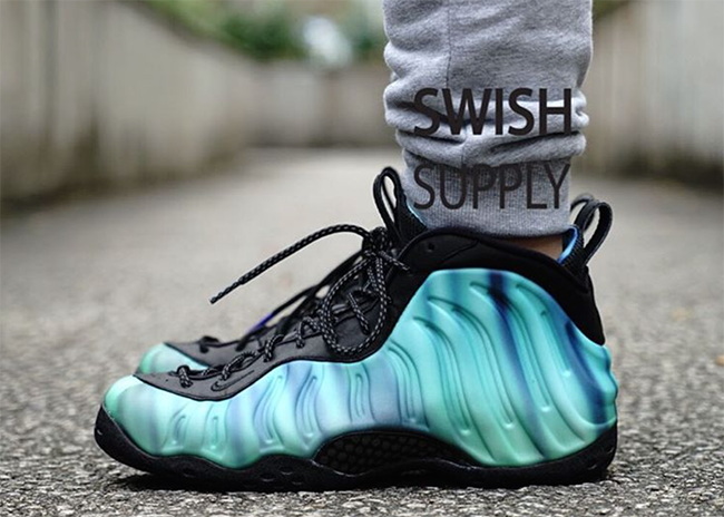 On Feet Nike Foamposite One Northern Lights