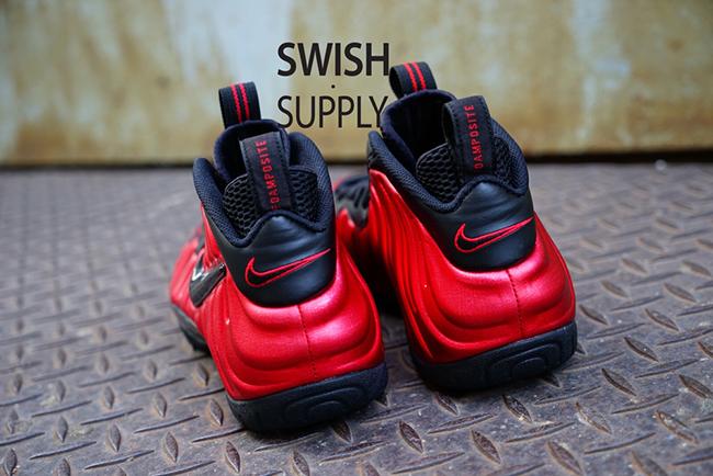 On Feet Nike Foamposite Pro Red Black