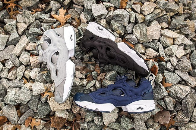 Reebok Insta Pump Fury Blue Black Grey