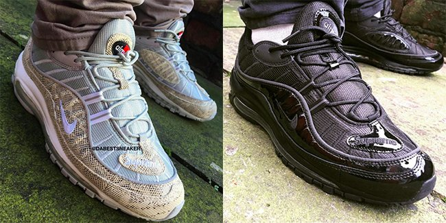 6df83e2bdab Supreme Nike Air Max 98 On Feet