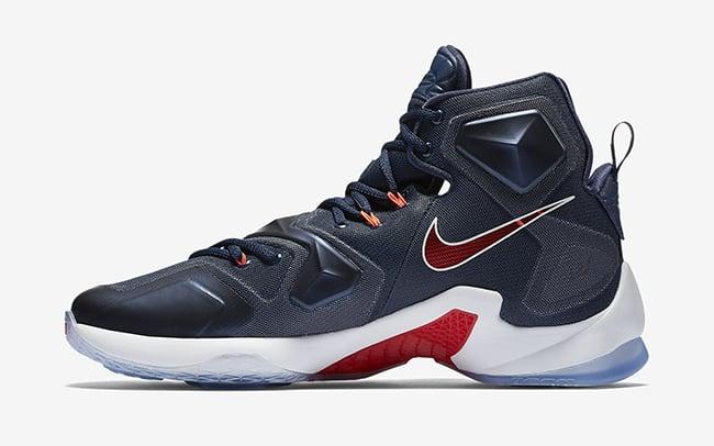 USA Nike LeBron 13 Navy