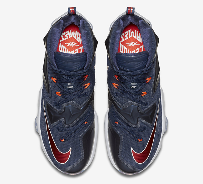 Nike LeBron 13 Midnight Navy Red White  fc33cfdad0c6
