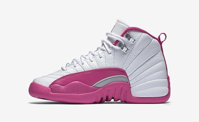 Air Jordan 12 GS White Vivid Pink