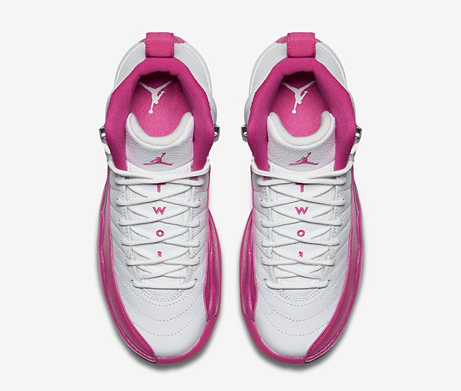 White Pink Air Jordan 12 Retro