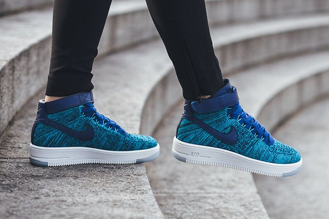 nike air force 1 flyknit high dames