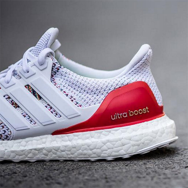Adidas Ultra Boost White Multicolor Red Sneakerfiles