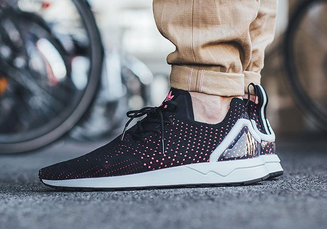 competitive price 41895 6db58 adidas ZX Flux ADV Primeknit Black Pink