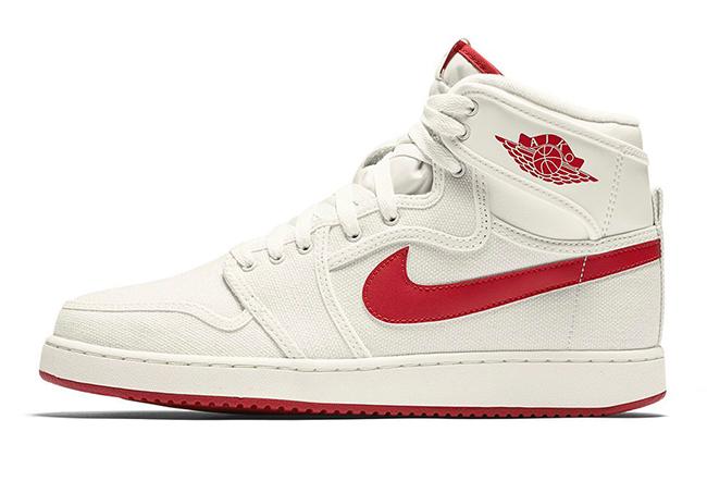 Air Jordan 1 KO High OG Timeless Canvas Sail Red