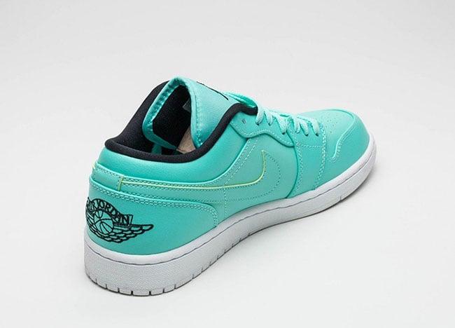 Air Jordan 1 Low Hyper Turquoise Black White
