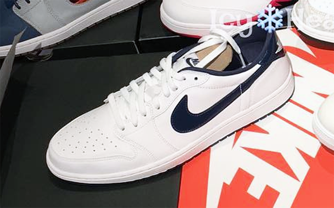 Air Jordan 1 Low White Midnight Navy 2016