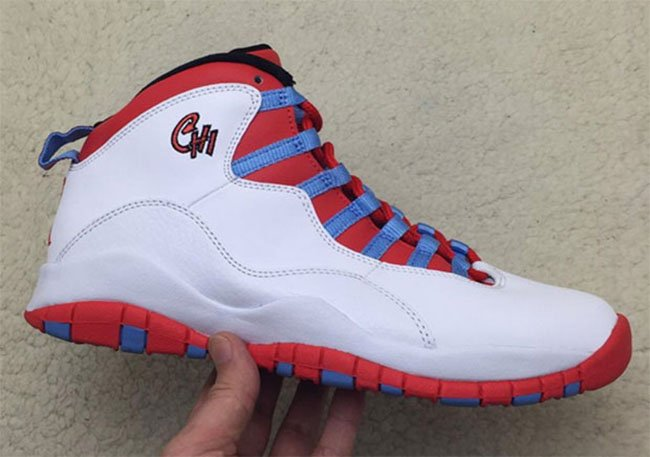 Air Jordan 10 Chicago City Flag