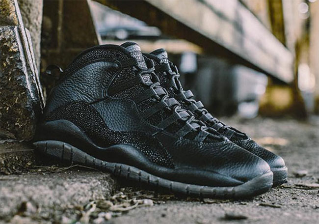 Air Jordan 10 OVO Black Footaction