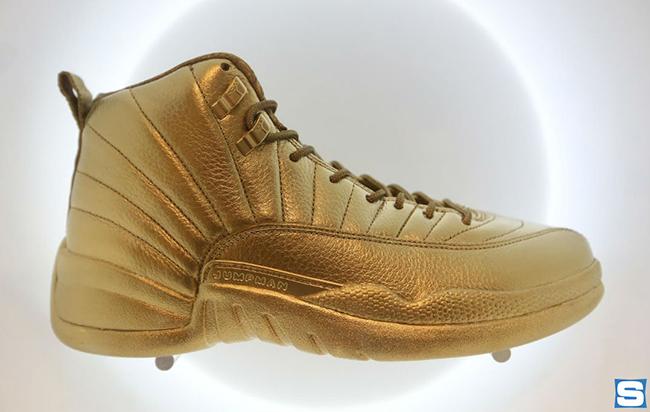 all gold jordans 12