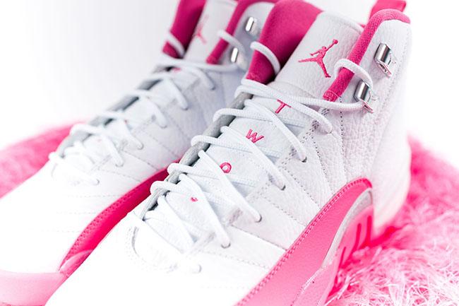 Air Jordan 12 Pink White 2016 Girls