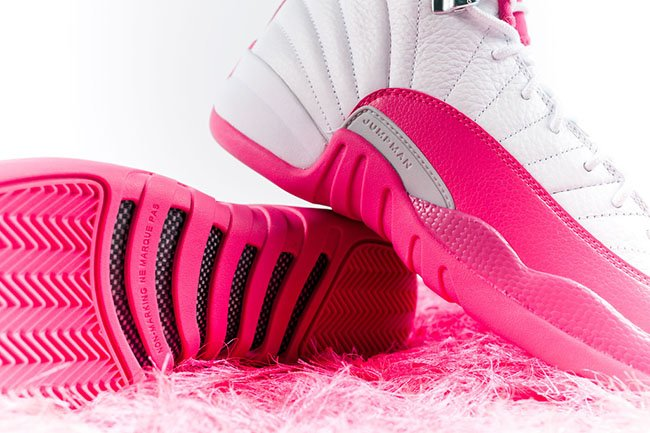 Air Jordan 12 Pink White 2016 Girls