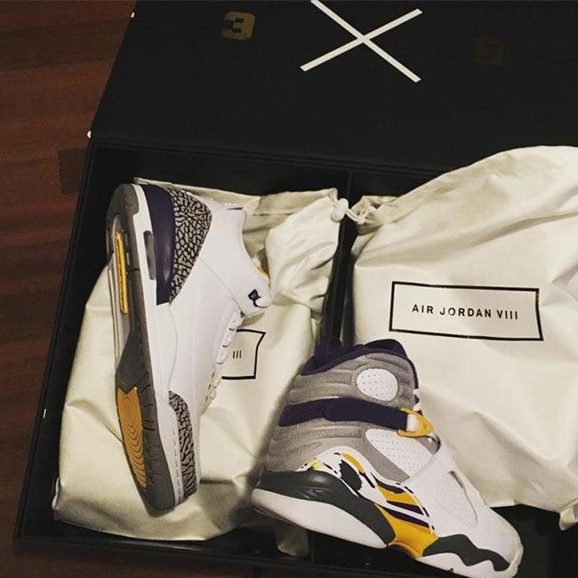 Air Jordan 3 8 Kobe White Pack
