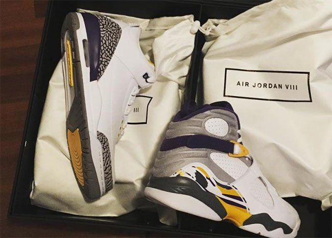 Air Jordan 3 8 Kobe White Pack