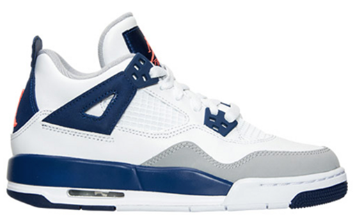 Air Jordan 4 GS Deep Blue White Orange March 2016