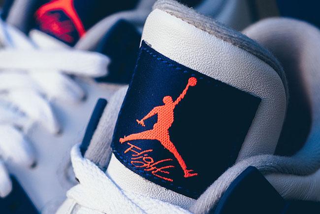 Air Jordan 4 Kids Deep Royal Orange