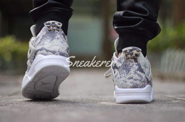 a3c2973021dd26 Air Jordan 4 Premium Snakeskin On Feet